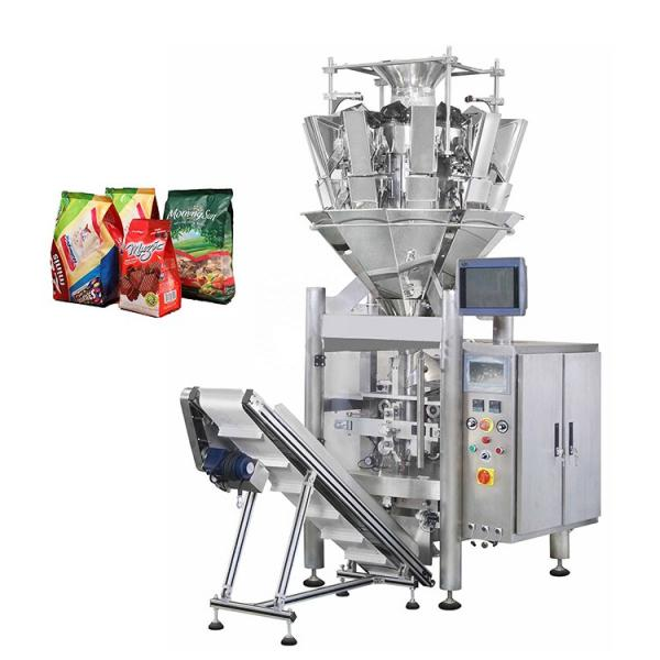 Automatic Vffs Vertical Form Film and Seal Granule Grain Snack Multihead Weigher Weighing Packing Machine,Biscuit Cookie Potato Chip Chocolate Packaging Machine #1 image